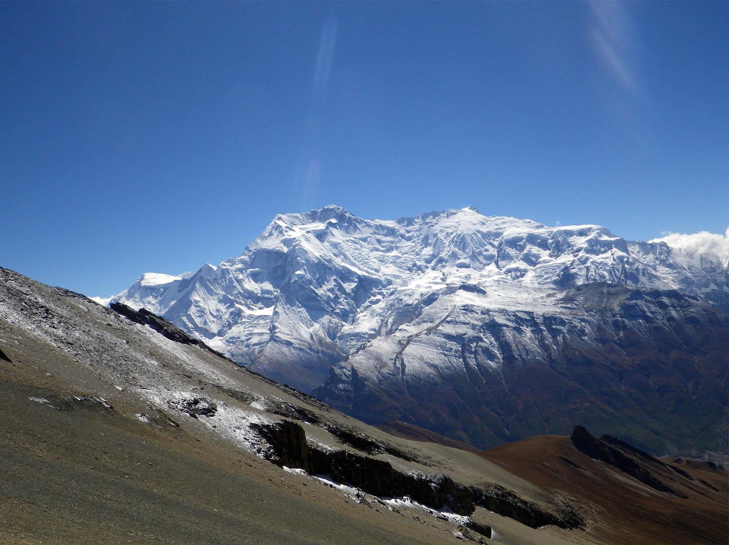 Au Kangla La vue sur les Annapurnas - Photo Nelly Perrillat