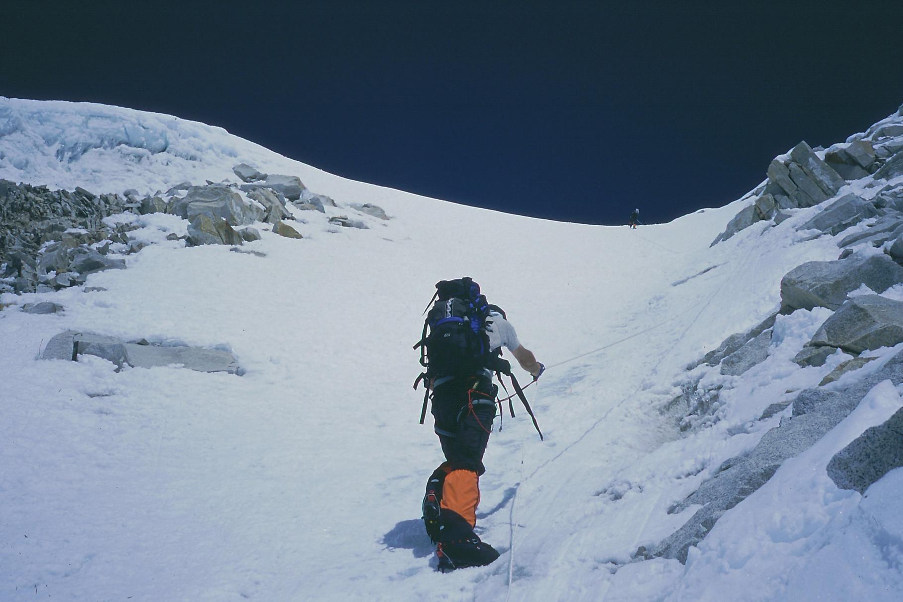 Dans la pente avant l'arête http://www.shangrila-trek.com/trek-peak-island/