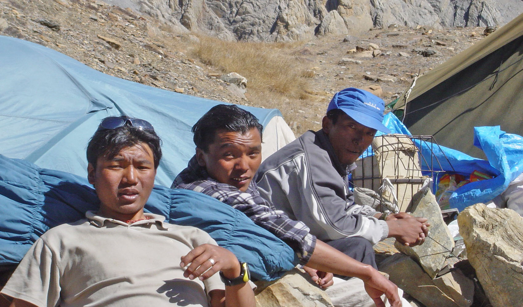 Nos Sherpas Tashi, Fhu Dorjee et Dorjee