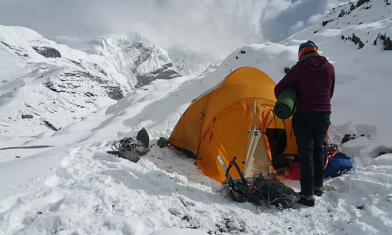 Camp à 5500 m