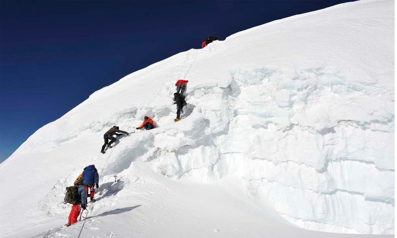 Le passage de la rimaye http://www.shangrila-trek.com/trek-peak-mera/