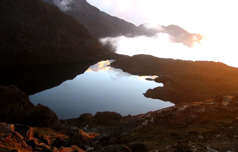 Gosainkund Lac Langtang Nepal  photo Noelle Touma Khumbu Shangrila