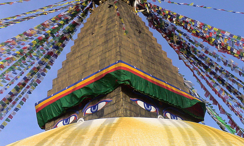 Bodhanath Kathmandu stupa Bouddhiste photo Noelle Touma