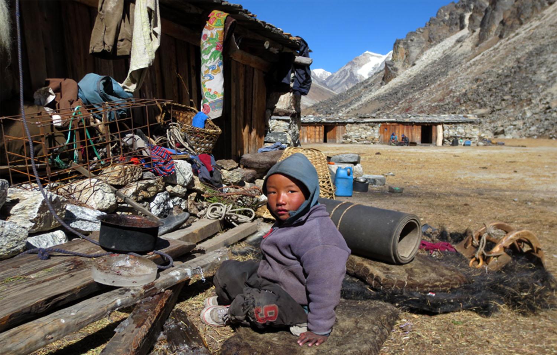 A LHONAK 4800 m LA VIE EST RUDE  trek Kangchenjunga Photo Jean-Luc Michod