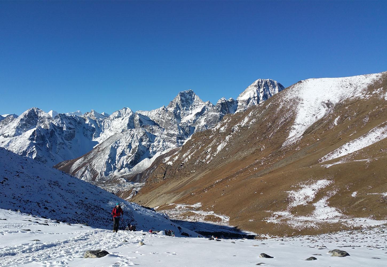 Départ au Chola Pass