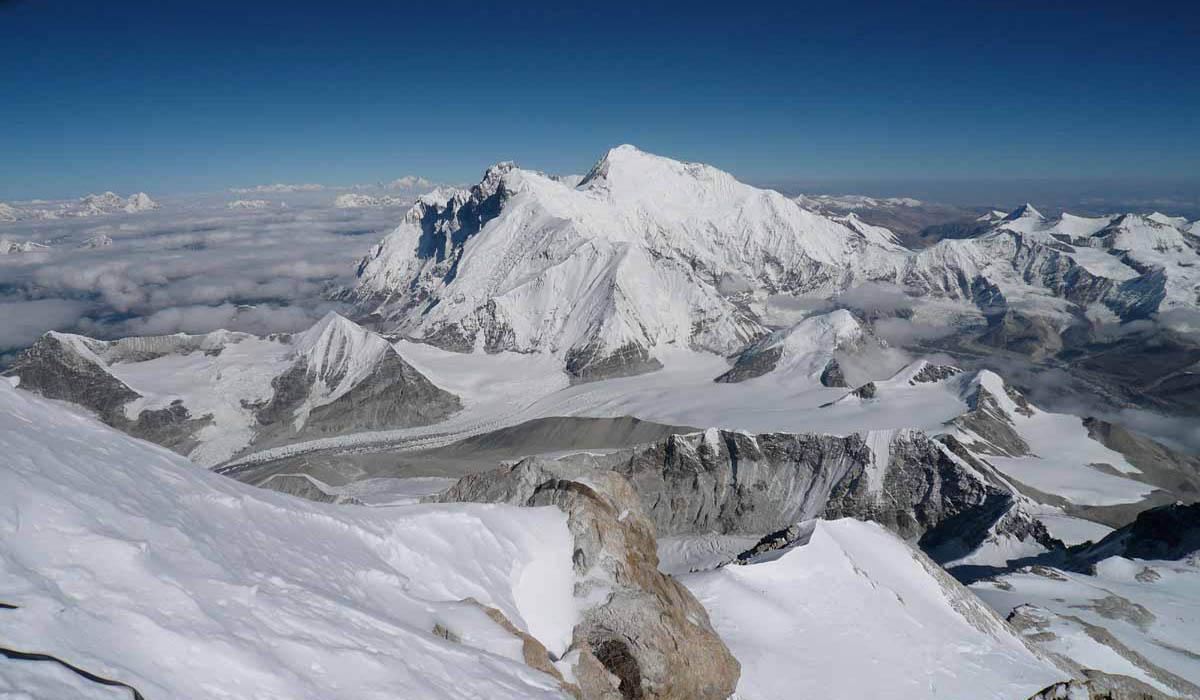 Everest et Lhotse depuis le sommet - Photo François Marsigny