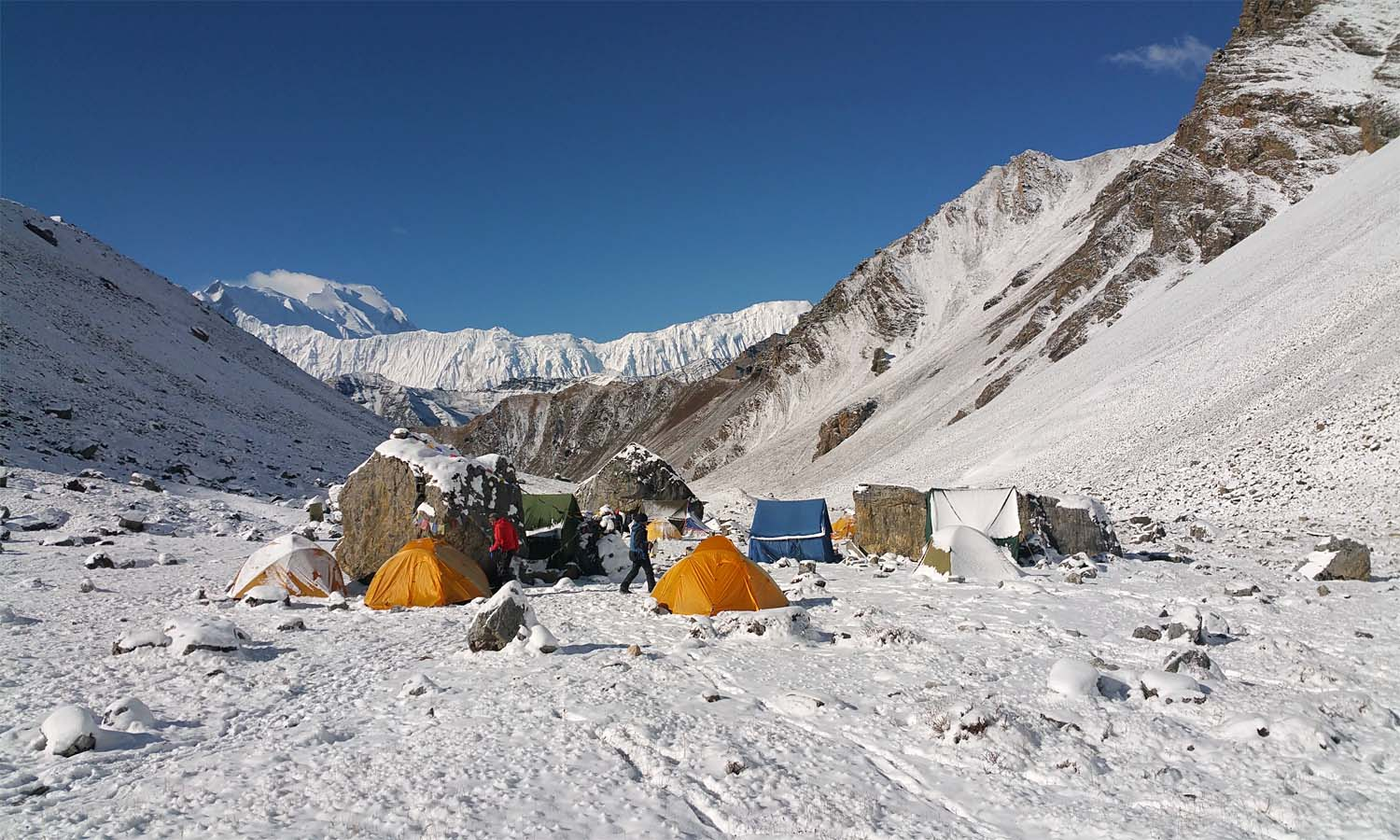Camp de base Chulu West 4800 m