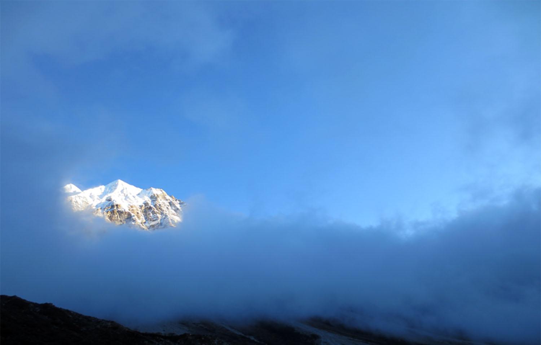 LE KANGCHENJUNGA  DEPUIS PANGPEMA trek Kangchenjunga  Photo Jean-Luc Michod