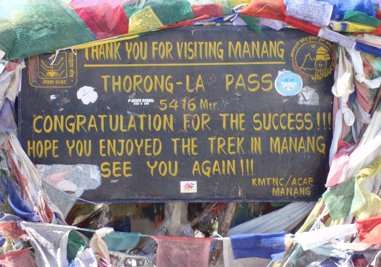 Au sommet du Thorong