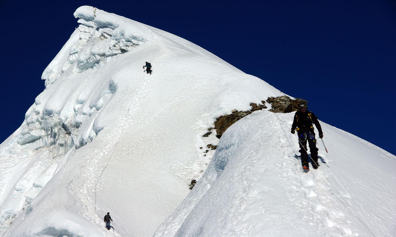Pentes en direction du sommet