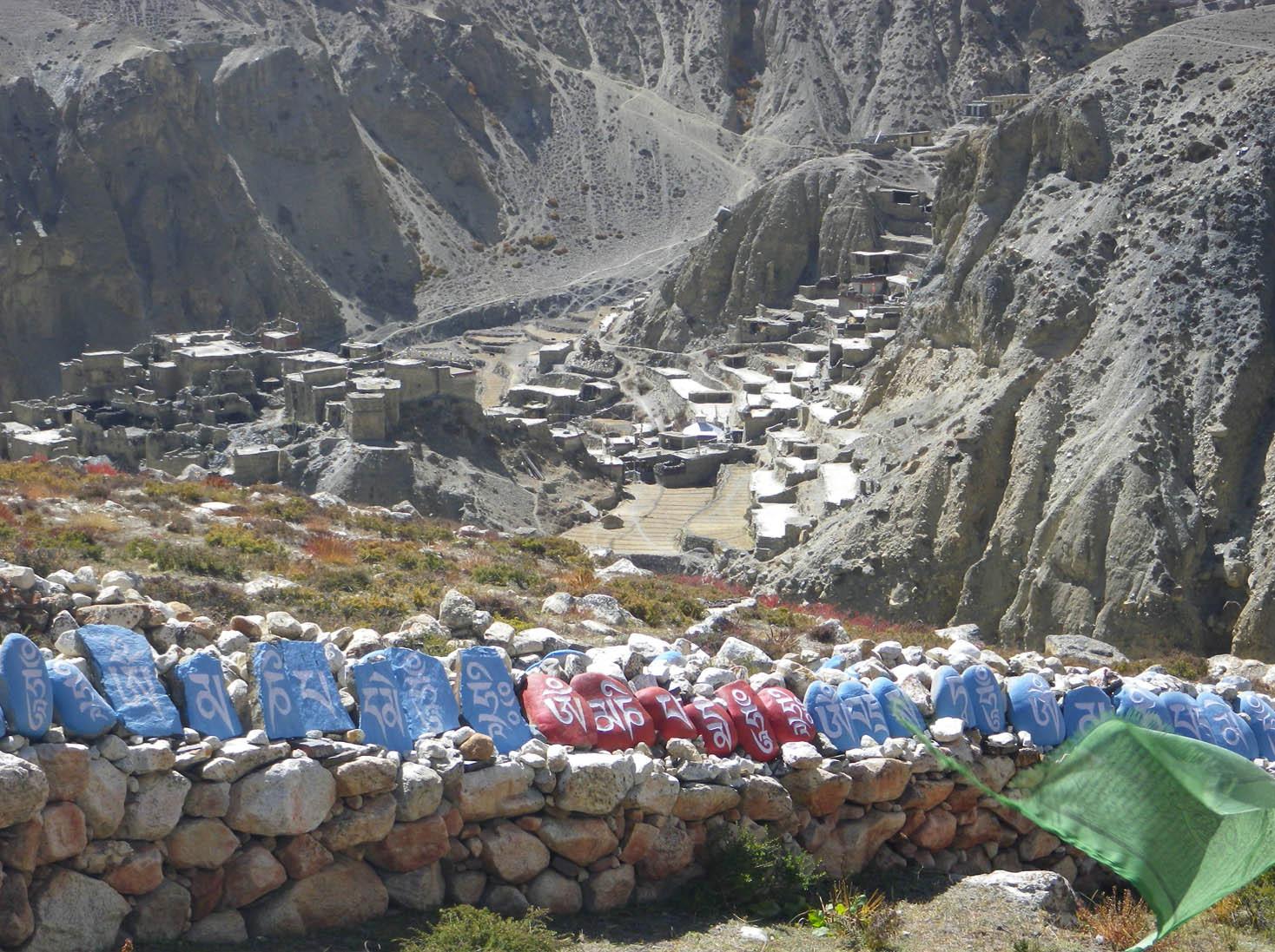 Village de Phu depuis la gompa en haut du village - Photo Nelly Perrillat