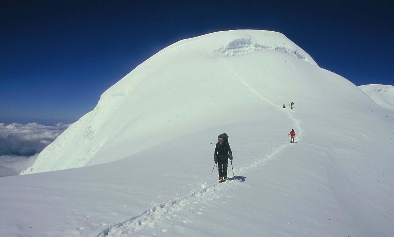 Juste avant la pente du sommet http://www.shangrila-trek.com/trek-peak-mera/