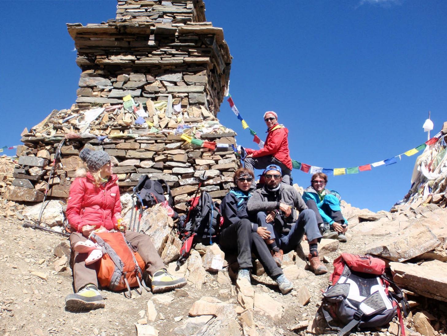 Naar Phu Tilicho - Au sommet du Kangla La - Photo Christian Brosse