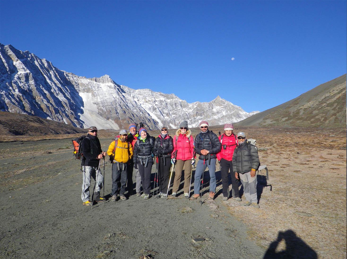 Toute l'équipe des trekkeurs - Photo Nelly Perrillat