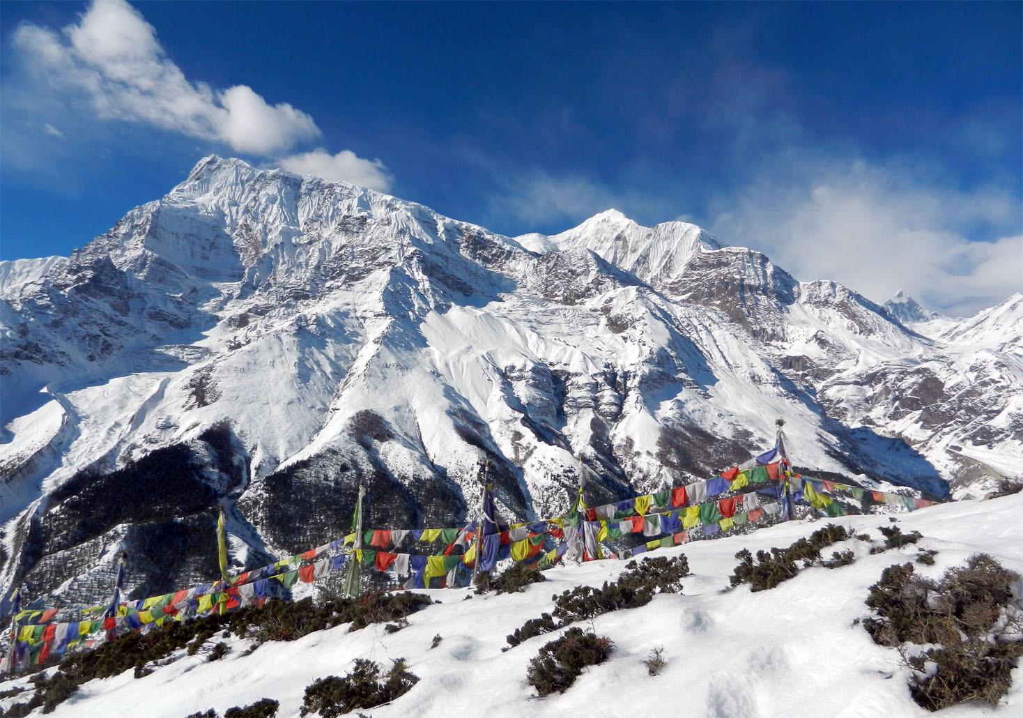 La chaînes des Annapurnas vue de Nawal