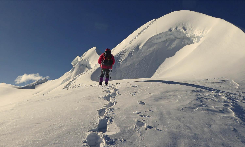 Avant le sommet. Photo Alain Dupré