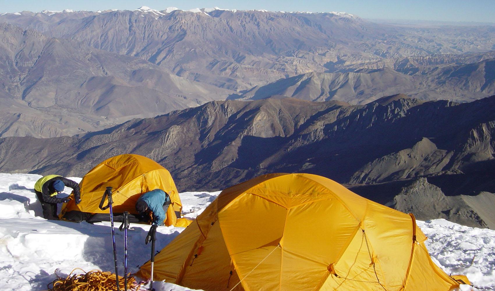 Le camp 2 du Tilicho 6100 m