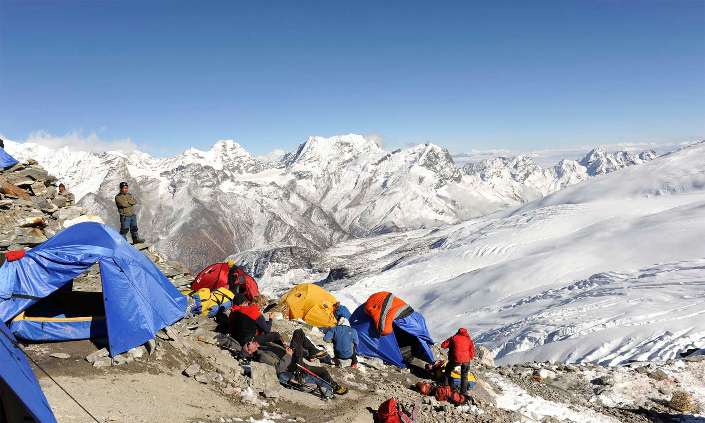 High Camp 5700 m