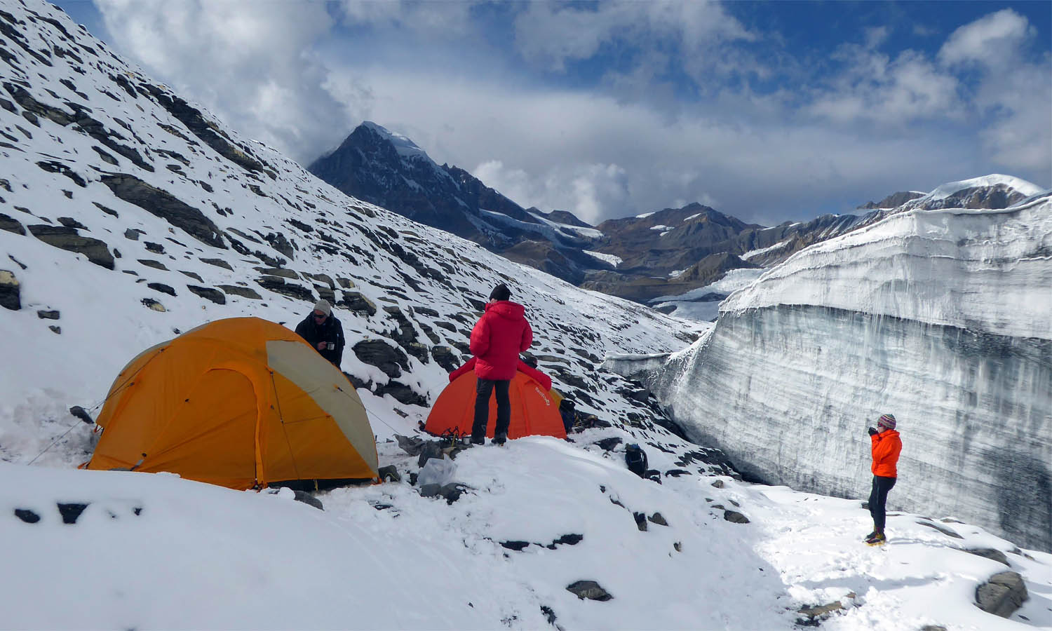 Camp 5500 m - photo Jean-Luc Michod