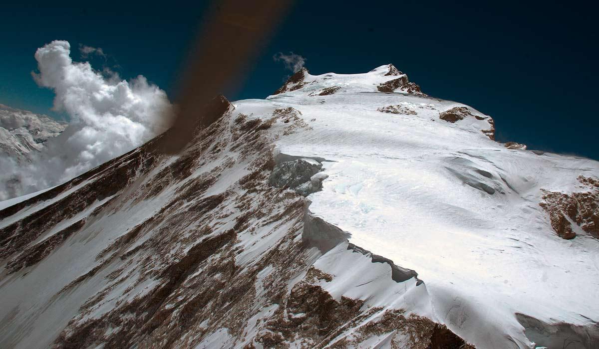 Parcours de C4 au sommet http://www.shangrila-trek.com/manaslu/