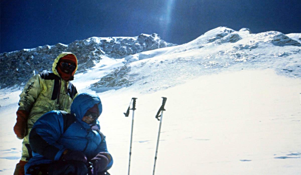 Très grand froid au départ de C4 à 7400 m en direction de C5