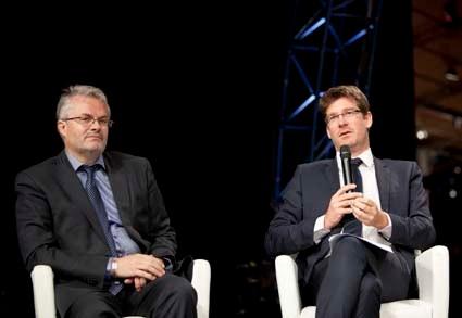 Pascal Canfin et Gilles Berhault Forum France Rio+20, 8 juin 2012 La Villette Paris