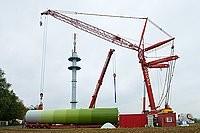 Aufbau einer Windenergieanlage