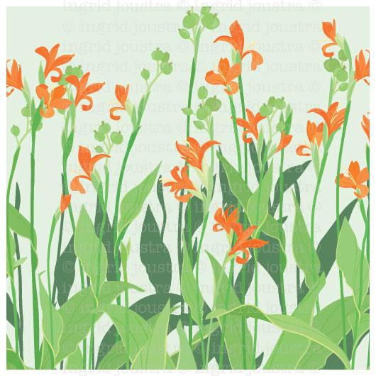 Lilli jingga: Balinese wild lillies | NAGA-printshop.com