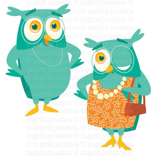 Mrs & Mrs Owl: mascotte voor educatief programma