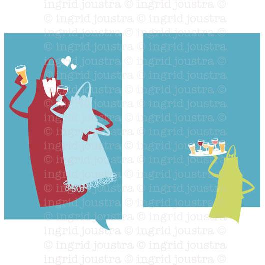 Trouwkaart voor- en achterkant: huwelijksaankondiging van Tini en Ric | Haarlem