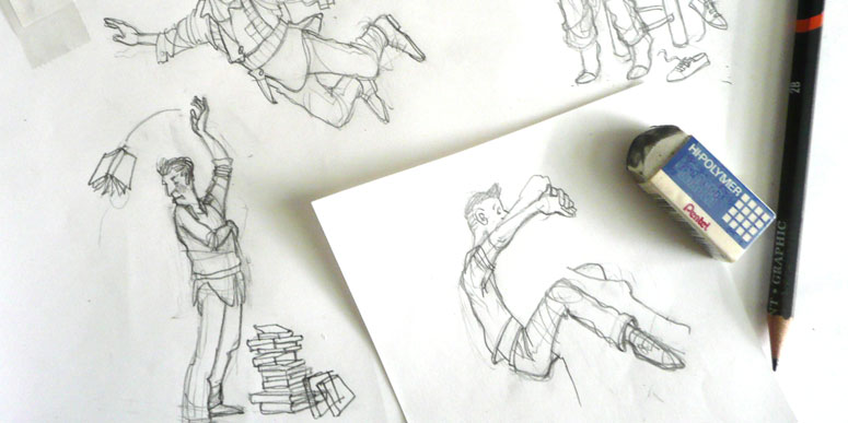 project sketches of different characters