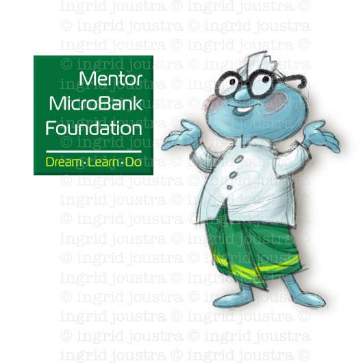 Mini Mentor: mascotte voor microkrediet bank | Bali
