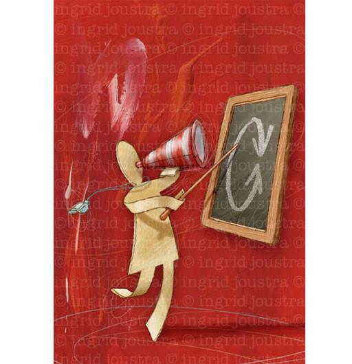 De teamleider: uit een serie van 10 illustraties voor het boek 'Teamleren' | Open Universiteit