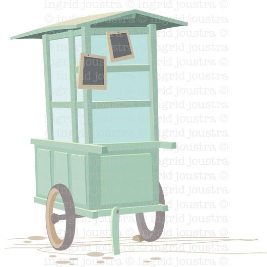 illustratie uit serie 'hawkerstalls'