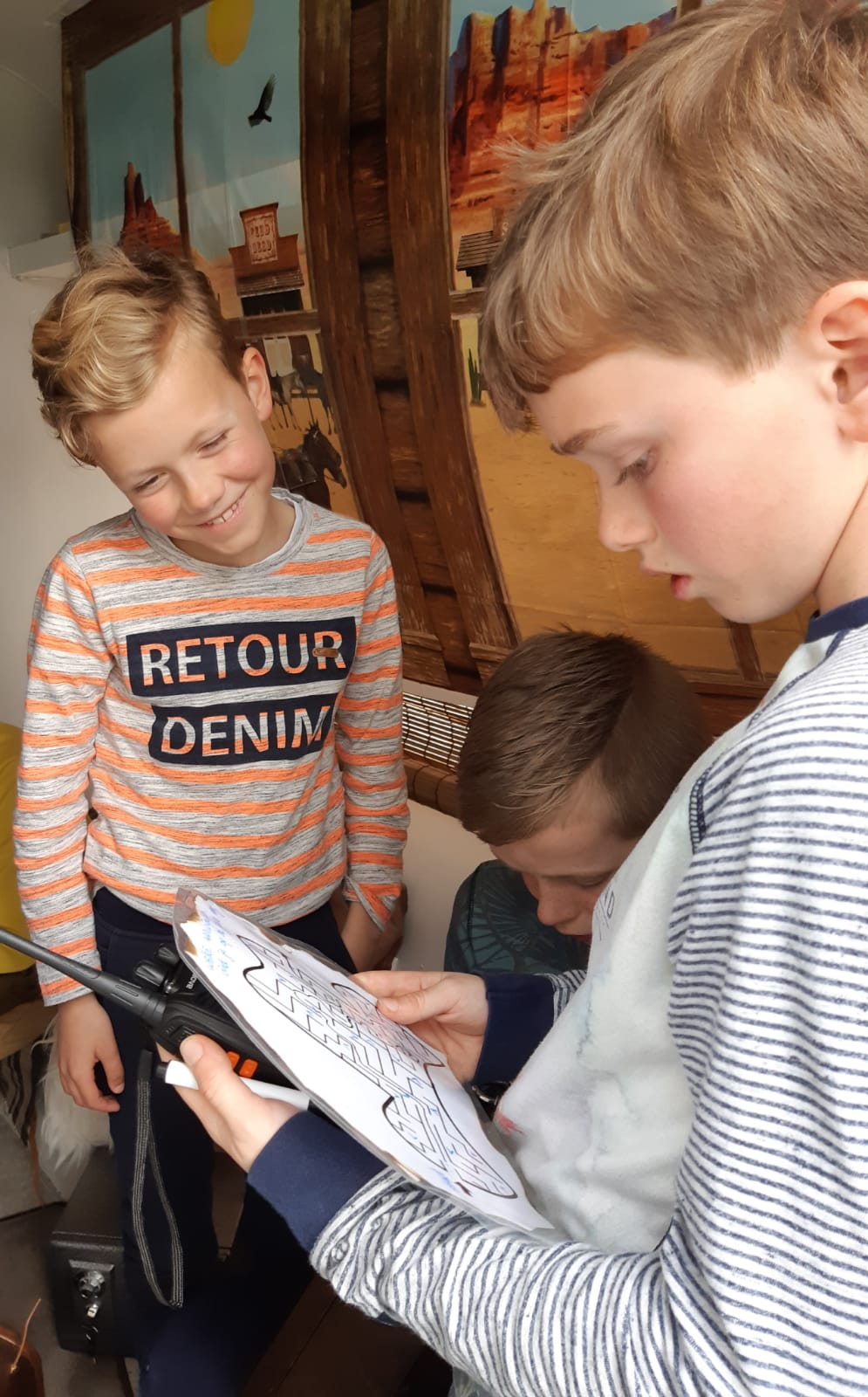 Mobiele escaperoom (variant A, 5 kids) - wild west