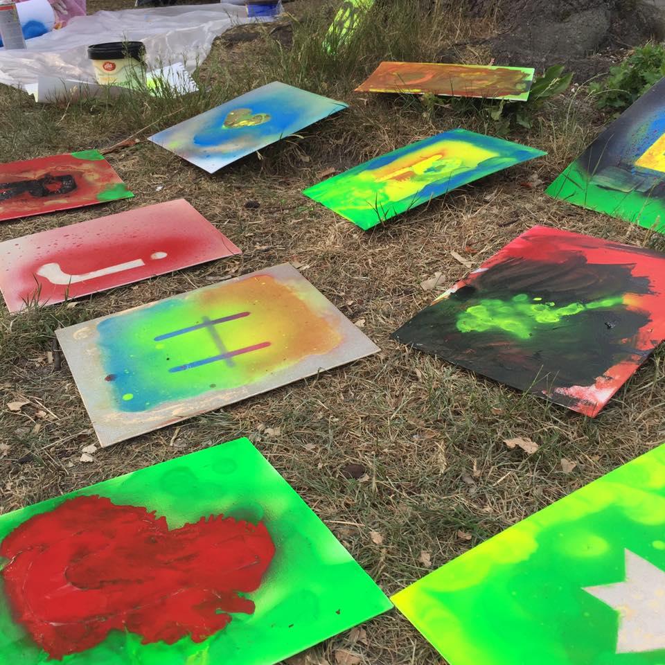 Graffiti schilderij maken
