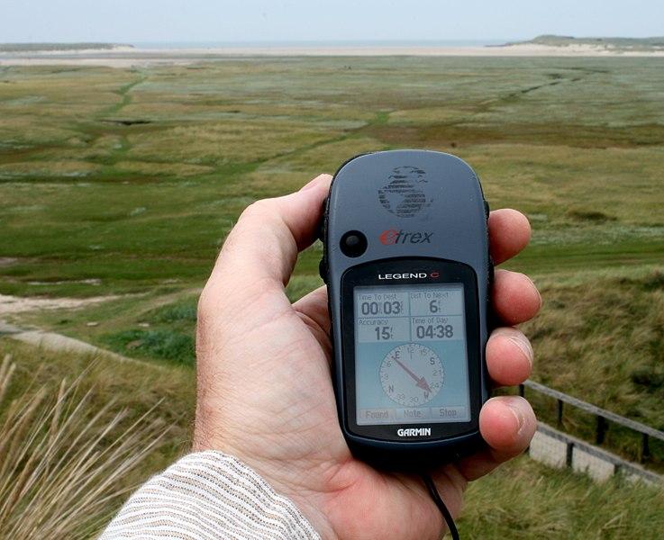 Met het GPS toestel op pad
