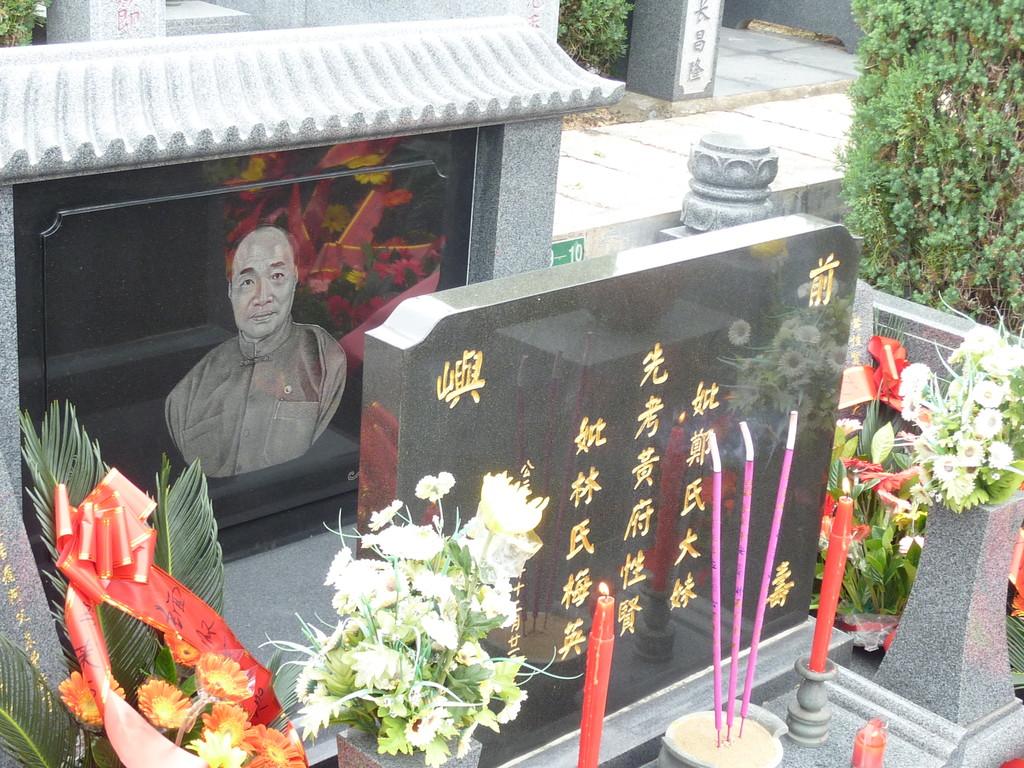 Am Grab von Master Huang