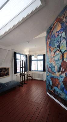August Macke Museum  Ochsenblut Restaurierung  Parkett Weber
