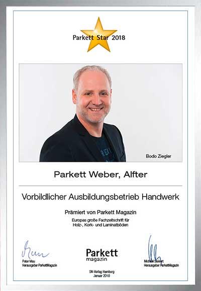 Manfred Weber Vorbildlicher Ausbildungsbetrieb