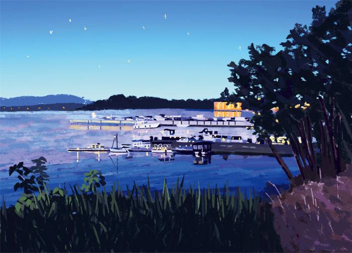 夜のポート/Port in the night