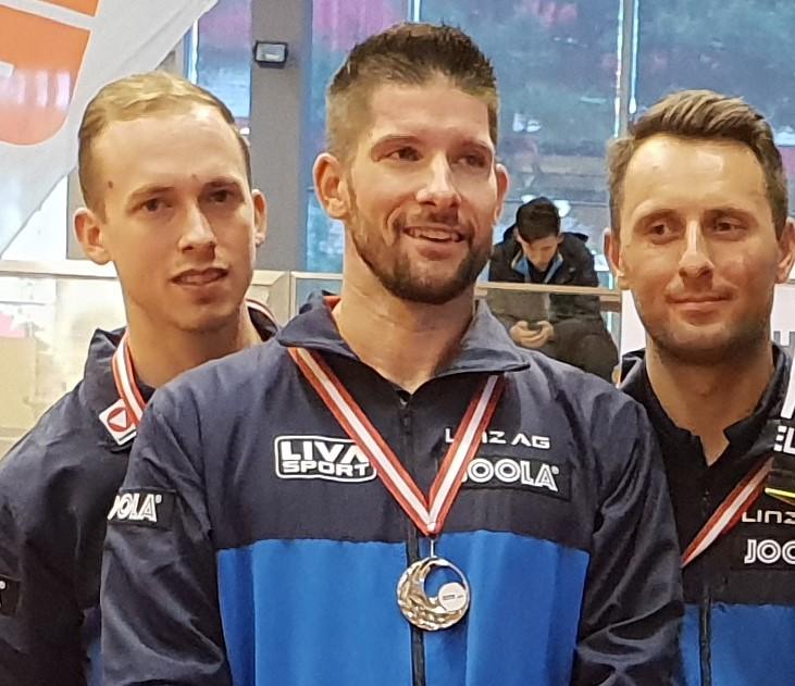 Thomas Grininger, Magic Lubo und Uros Slatinsec waren in einem hochklassigem Match auf internationalem Top Niveau nur von Wels mit 3:2 zu bezwingen - Silbermedaille für die SPG LINZ Herren