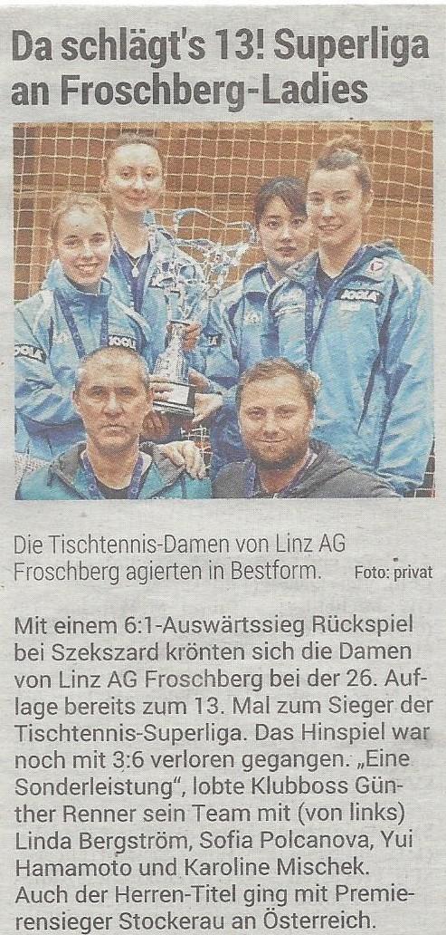 2.05.2019 Volksblatt