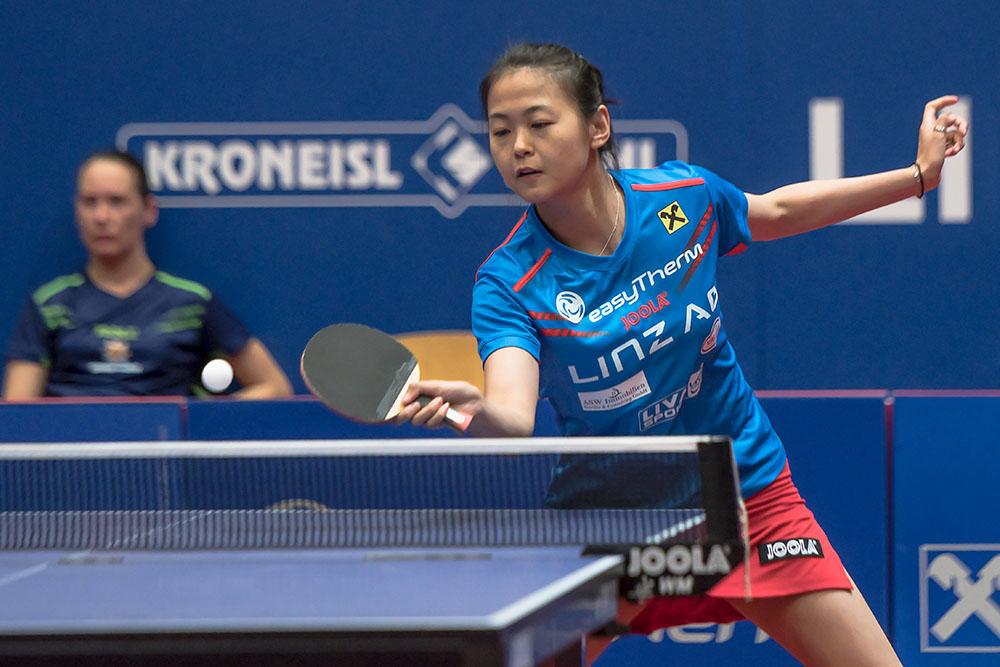 Foto Pillik - Zhang Mo holte in den beiden Spielen 6 Einzelsiege für Linz