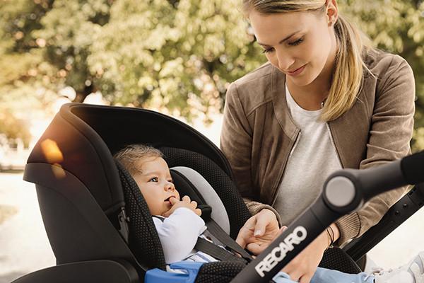RECARO Citylife Kinderwagen mit Babyschale.