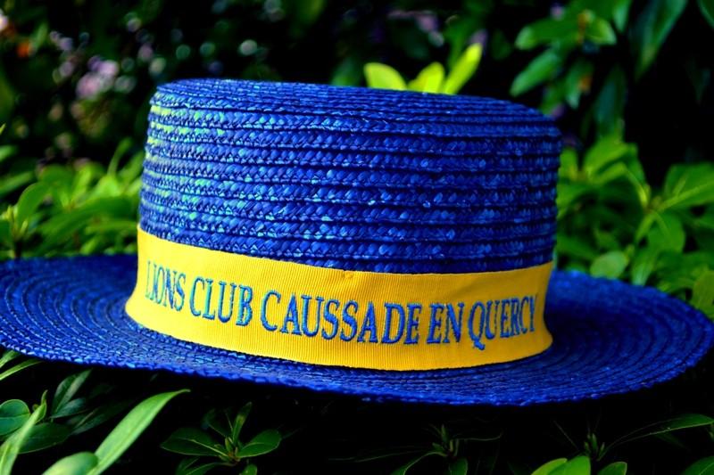 Le plus beau modèle de canotier, celui du Lions Club de Caussade que nous sommes fiers de porter !