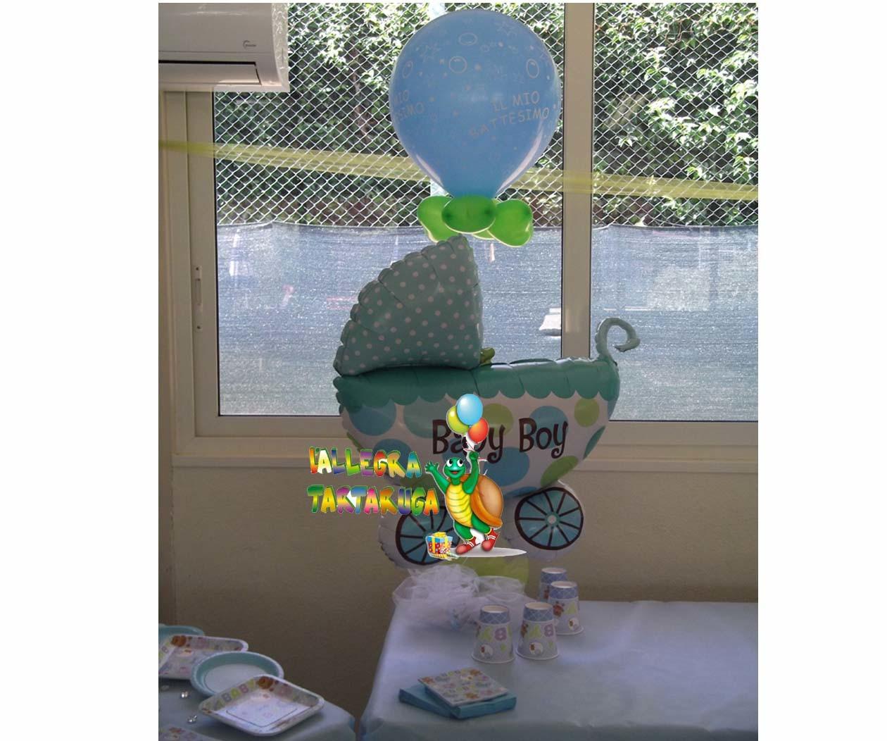 allestimento palloncini battesimo