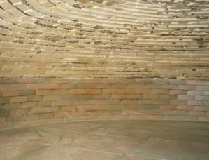intérieur du four en brique réfractaire