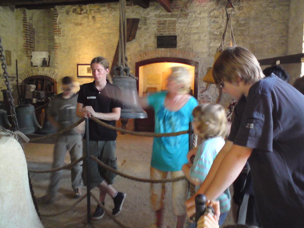 Christoph mit der Ferdinandgruppe im Glockenmuseum