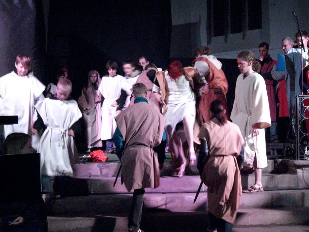 Die Jesusleute fliehen